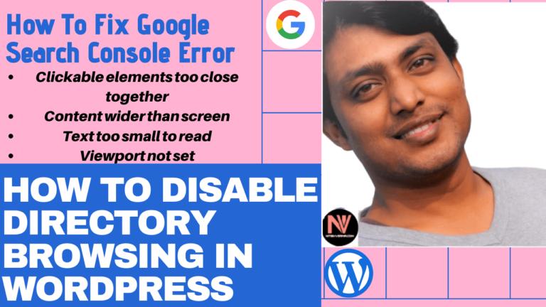 WordPress Me Directory Browsing Disable Kaise Karein?